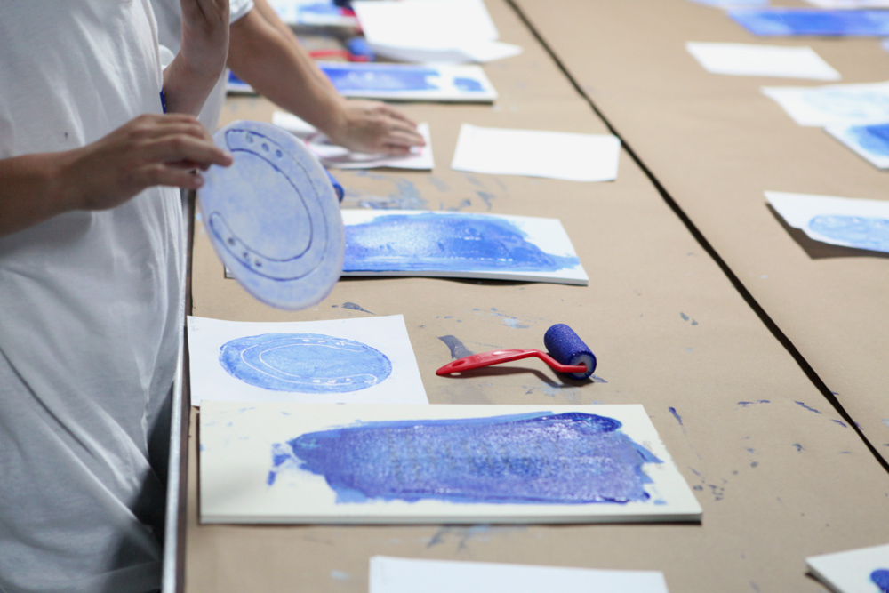 PRINTMAKING WORKSHOP FOR LOCAL STUDENTS & UPCOMING IMPRESSIONS ADDITION