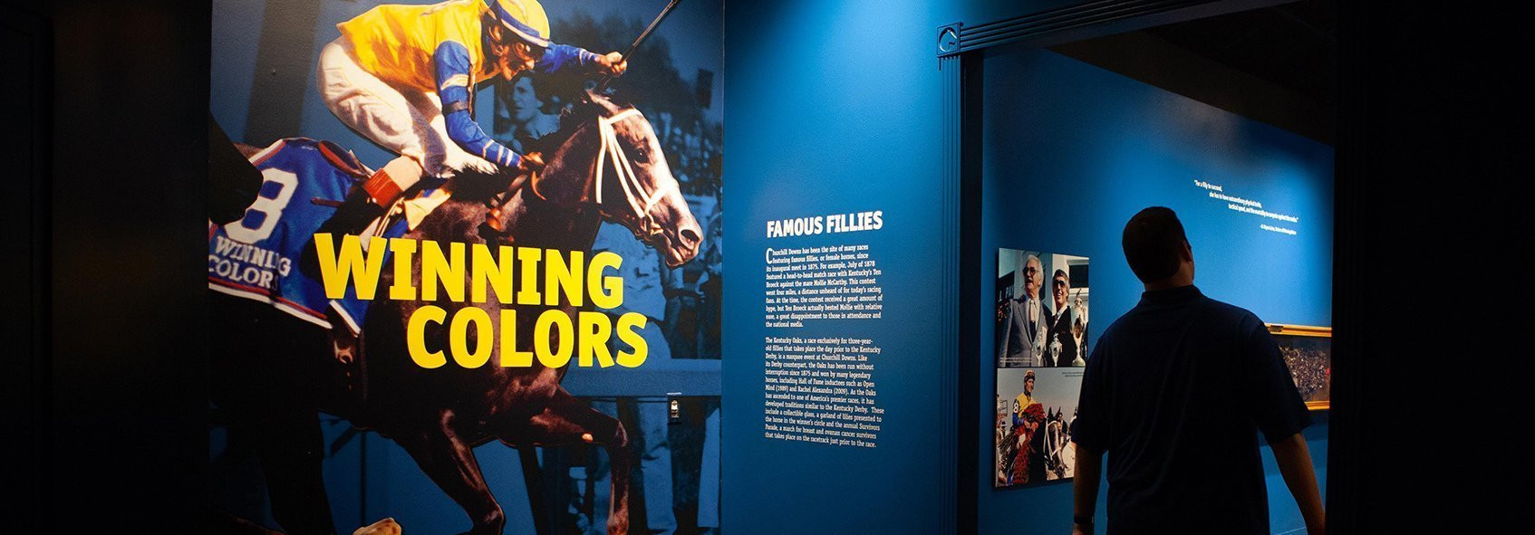This Exhibit Celebrated The 30th Anniversary Kentucky Derby Win Of Filly Winning Colors Famous Fillies Featured History