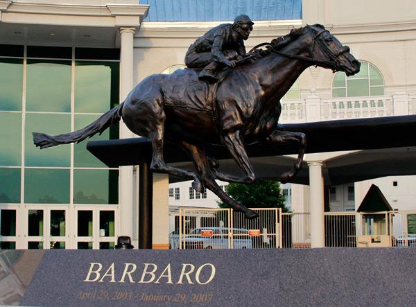 Barbaro Memorial Statue Kentucky Derby Museum