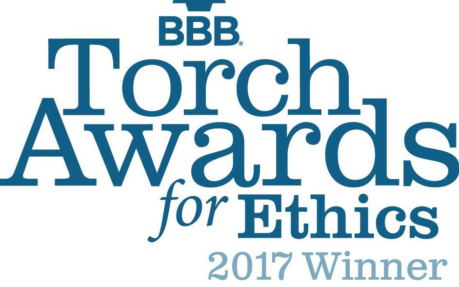 2017 Recipient of the Better Business Bureau's Torch Award