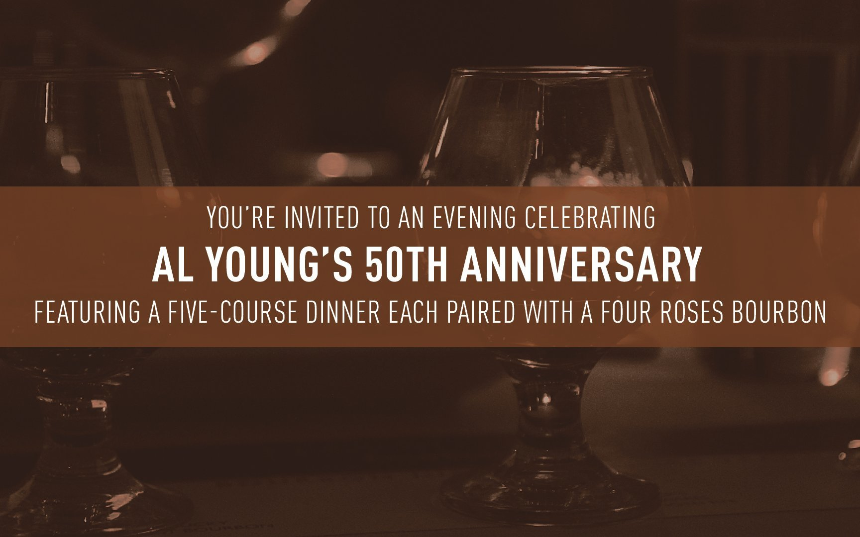Kentucky Derby Museum and Four Roses Bourbon invite you to a 50th anniversary dinner honoring bourbon legend Al Young
