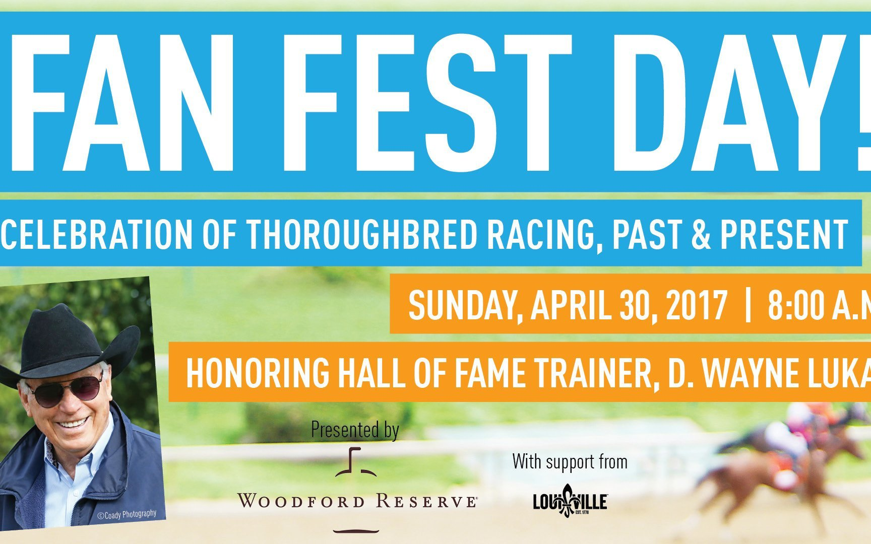 Second annual Fan Fest Day, presented by Woodford Reserve, at the Kentucky Derby Museum to celebrate career of four-time Kentucky Derby winning trainer D. Wayne Lukas