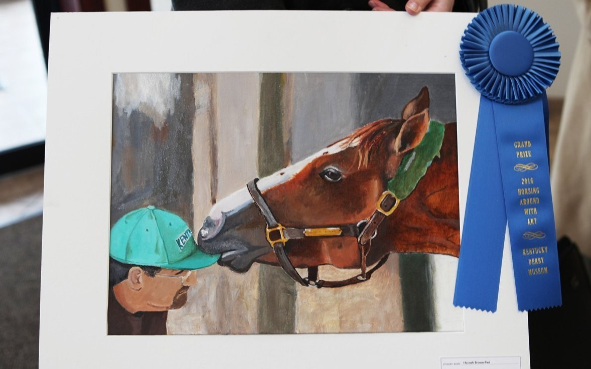 Mercy Academy student takes top prize in the Kentucky Derby Museum's 30th annual Horsing Around with Art competition