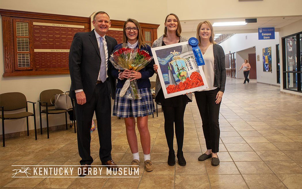 Mercy Academy Junior wins Grand Prize in 33rd annual Horsing Around with Art student art competition presented by WinStar Farm
