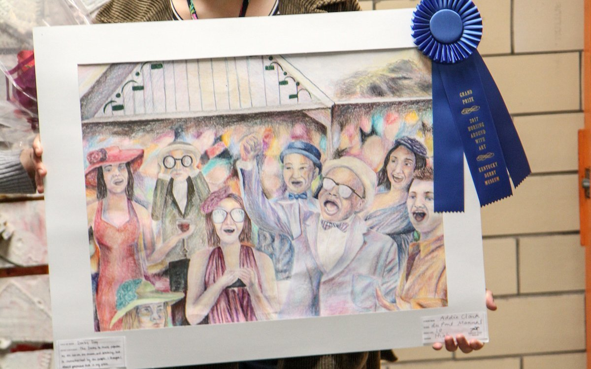 duPont Manual High School sophomore wins Grand Prize in 31st annual Horsing Around With Art competition