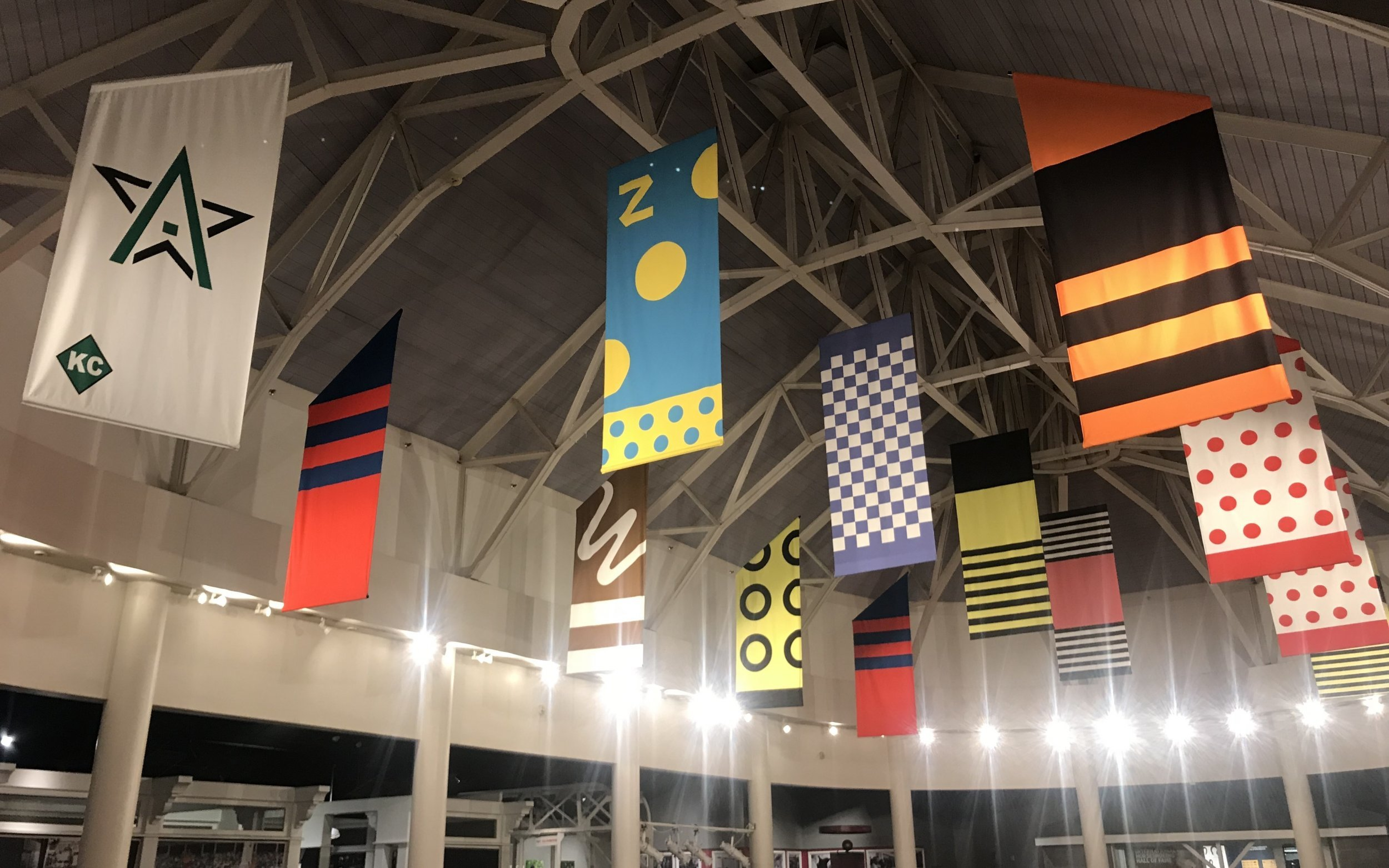 Kentucky Derby Museum adds 13th Triple Crown banner above its Great Hall