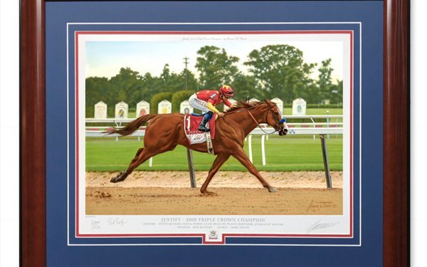 The Justify Triple Crown Art Collection