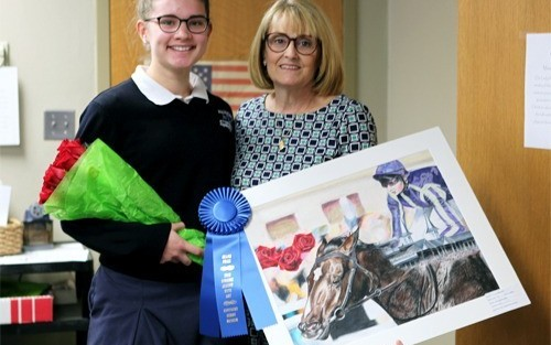 2015 Student Art Show Winner Surprised With Box Seats to the Kentucky Derby