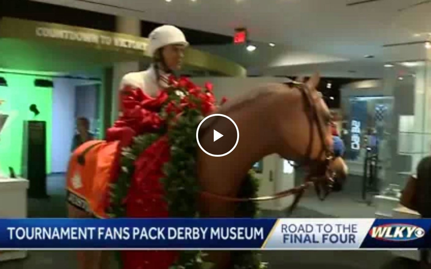 NCAA Tournament fans pack Kentucky Derby Museum ahead of Saturday's game