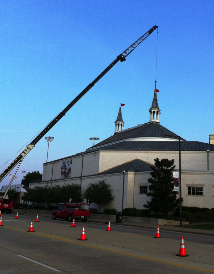 Spires renovation under way at the Kentucky Derby Museum